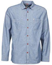 Quiksilver - Cline Men's Long Sleeved Shirt In Blue - Lyst
