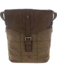 Joules - Tourer Tweed Women's Messenger Bag In Brown - Lyst