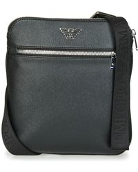 Emporio Armani - Business Flat Messenger Bag Men's Pouch In Black - Lyst