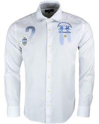 La Martina - Chemise blanche Argentine slim fit pour homme hommes Chemise  en blanc - Lyst 786a677b19a3