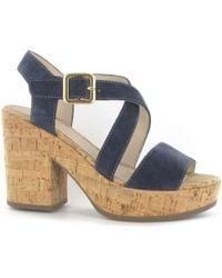 Stonefly - 108330 Wedge Sandals Women Blue Women's Sandals In Blue - Lyst