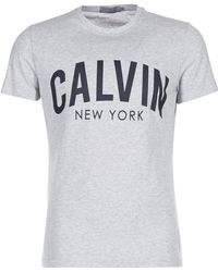 Calvin Klein Jeans - Tibokoy Slim Men's T Shirt In Grey - Lyst