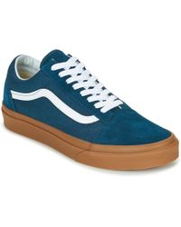 657fe6897c Vans X Horween Leather Co. Old Skool Cup Lx in Blue for Men - Lyst