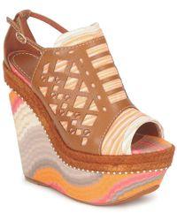Missoni - Tm22 Women's Sandals In Brown - Lyst