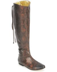 French Sole - Prince Women's High Boots In Brown - Lyst