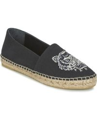 KENZO - Tiger Head Women's Espadrilles / Casual Shoes In Black - Lyst