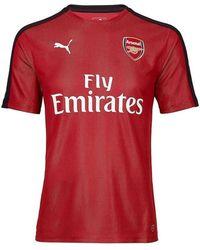 PUMA - 2018-2019 Arsenal Stadium Jersey (chilli Pepper) Women's T Shirt In Red - Lyst