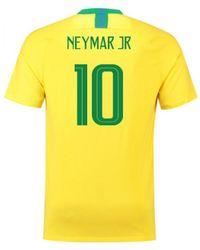 Nike - 2018-2019 Brazil Home Vapor Match Shirt (neymar Jr 10) Men's T Shirt In Yellow - Lyst