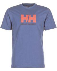 Helly Hansen - Hh Logo Men's T Shirt In Blue - Lyst