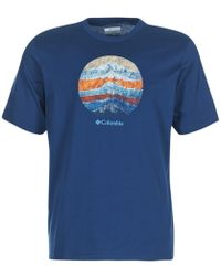 Columbia - Csc Mountain Sunset Tee Men's T Shirt In Blue - Lyst