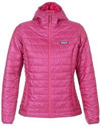 Patagonia - W's Nano Puff Hoody Women's Jacket In Pink - Lyst