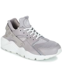 242b8ed83b0f Nike Huarache Run Gs Women s Shoes (trainers) In Grey in Gray - Lyst