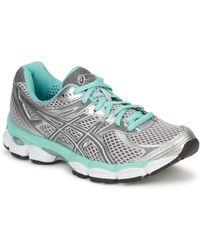 Asics - Gel Cumulus 14 Women's Running Trainers In Silver - Lyst