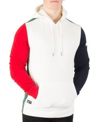 Tommy Hilfiger - Men's Rock Blocking Hoodie, White Men's Sweatshirt In White - Lyst