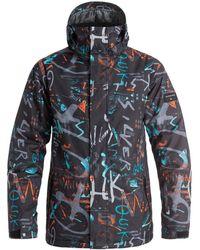 Quiksilver - Mission Printed - Chaqueta Para Nieve Men's Jacket In Black - Lyst