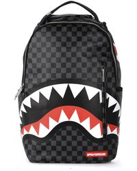 Sprayground - Black Checkered Shark In Paris Backpack - Lyst