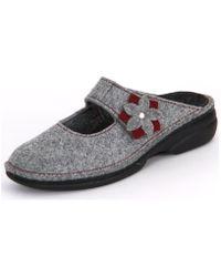 Finn Comfort - Arlberg Light Greycassis Wollfilz Women's Clogs (shoes) In Grey - Lyst