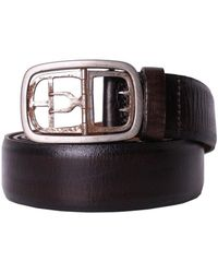 DIESEL - Black Gold - Leather Belt Battista Women's Belt In Brown - Lyst