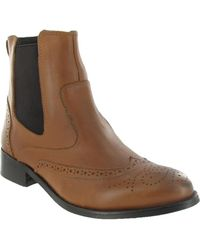 Marta Jonsson - Ankle Boot With Brogue Pattern Women's Low Ankle Boots In Brown - Lyst