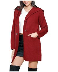 Infinie Passion - Burgundy Thick Coat 00w060742 Women's Coat In Red - Lyst