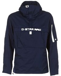 G-Star RAW - Rackam Dc Hdd Anorak Jkt Men's Jacket In Blue - Lyst
