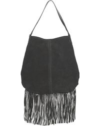 Pieces   Tabatha Suede Women's Handbags In Black   Lyst