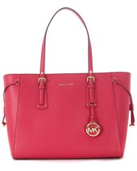 MICHAEL Michael Kors - Borsa Shopping Voyager In Pelle Ultra Pink Men's In Pink - Lyst