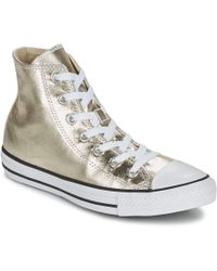 Converse | Chuck Taylor All Star Metallics Hi Women's Shoes (high-top Trainers) In Gold | Lyst