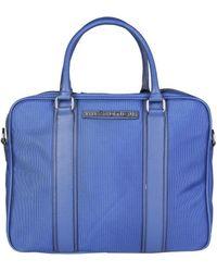 Trussardi - 71b984t_blu Men's Briefcase In Blue - Lyst
