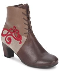 Think! - Nei Roun Women's Low Ankle Boots In Brown - Lyst