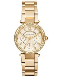 MICHAEL Michael Kors - Mk6056 Women's Analogue Watches In Gold - Lyst