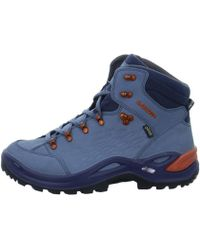 Lowa - Renegade Gtx Mid Men's Shoes (high-top Trainers) In Blue - Lyst