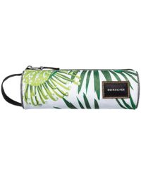 Quiksilver - Pencil Print Case - Bp Protea White Men's Cosmetic Bag In White - Lyst