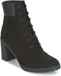 8faae4cbd2a Timberland Womens Navy Allington 6 Inch Boots in Black - Lyst