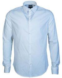 Armani Jeans - Shirt 8n6c096n06z Men's Long Sleeved Shirt In Blue - Lyst