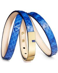 Ursul - Bracelet U-turn Triple Royal I Blue / Gold Woman Autumn/winter Women's Bracelet In Blue - Lyst