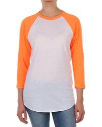 American Apparel - Unisex Poly-cotton 3/4 Sleeve Raglan Women's In White - Lyst