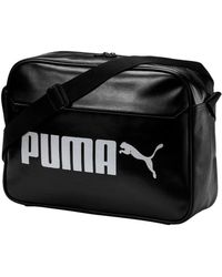 PUMA - Campus Reporter Bag Men s Shoulder Bag In Black - Lyst 19aac595d30d8