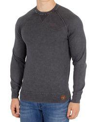 Superdry - Men's Garment Dye L.a Sweatshirt, Black Men's Sweater In Black - Lyst