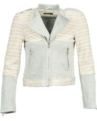Color Block - Gedu Women's Jacket In White - Lyst