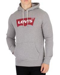 Levi's - Levis Men's Graphic Pullover Hoodie, Grey Men's Sweatshirt In Grey - Lyst