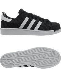 Adidas superstar scarpe da uomo (formatori) in nero in nero per gli uomini lyst