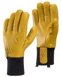 Black Diamond - Gants De Ski Dirt Bag Gloves Natural hommes Gants en jaune - Lyst