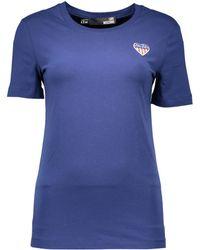 Love Moschino - W 4 F14 80 E 1257 hommes T-shirt en bleu - Lyst