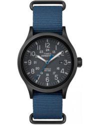 Timex - Montre Montre EXPEDITION SCOUT Gris Bracelet Nato Bleu TW4B04800 - Lyst