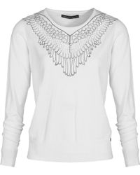 Mado Et Les Autres - Long Sleeves Knit Jumper 18hpul102_be002 Off White Woman Ah18 Women's Sweatshirt In White - Lyst
