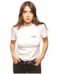 L'affaire De Rufus - Organic Cotton Round Neck T-shirt Women's T Shirt In White - Lyst