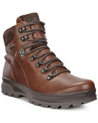 Ecco - Rugged Track Men's Walking Boots In Brown - Lyst