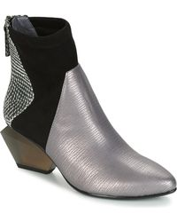 United Nude - Jacky Bootie Women's Low Ankle Boots In Silver - Lyst