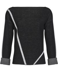 Mado Et Les Autres - Jumper Graphic Lines Long Sleeves 18hpul109_no477 Black / Off Women's Sweatshirt In Black - Lyst